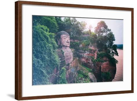 China 10MKm2 Collection - Instants Of Series - Giant Buddha of Leshan-Philippe Hugonnard-Framed Art Print