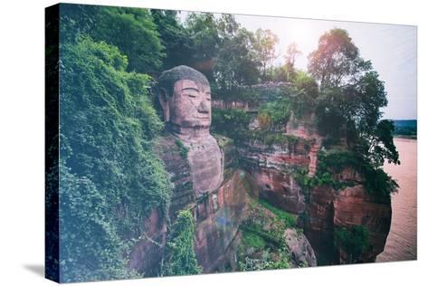 China 10MKm2 Collection - Instants Of Series - Giant Buddha of Leshan-Philippe Hugonnard-Stretched Canvas Print