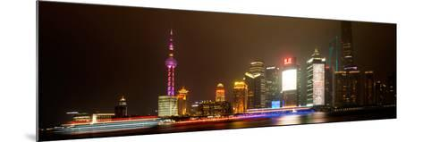 China 10MKm2 Collection - Shanghai Cityscape at night-Philippe Hugonnard-Mounted Photographic Print