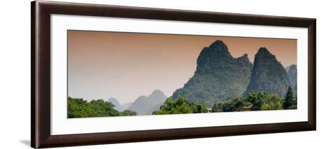 China 10MKm2 Collection - Karst Mountains at sunset - Yangshuo-Philippe Hugonnard-Framed Art Print