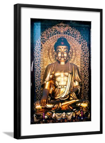 China 10MKm2 Collection - Instants Of Series - Gold Buddha-Philippe Hugonnard-Framed Art Print