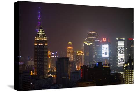 China 10MKm2 Collection - Shanghai Cityscape at night-Philippe Hugonnard-Stretched Canvas Print