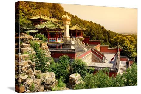 China 10MKm2 Collection - Summer Palace at Sunset-Philippe Hugonnard-Stretched Canvas Print