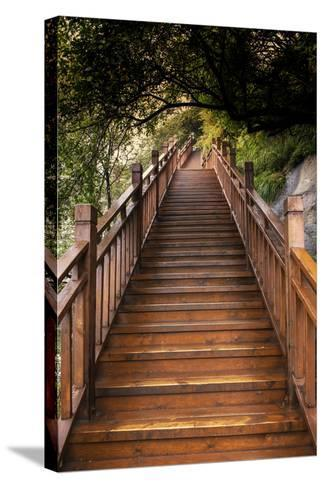 China 10MKm2 Collection - Mountain Woooden Staircase-Philippe Hugonnard-Stretched Canvas Print