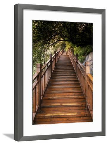 China 10MKm2 Collection - Mountain Woooden Staircase-Philippe Hugonnard-Framed Art Print