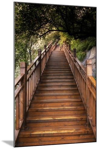 China 10MKm2 Collection - Mountain Woooden Staircase-Philippe Hugonnard-Mounted Photographic Print
