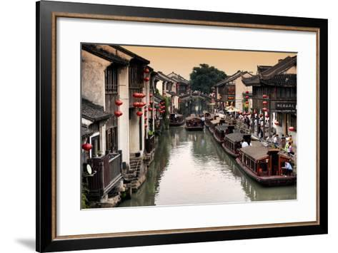 China 10MKm2 Collection - Shantang water Town - Suzhou-Philippe Hugonnard-Framed Art Print