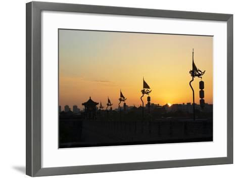 China 10MKm2 Collection - Shadows of the City Walls at sunset - Xi'an City-Philippe Hugonnard-Framed Art Print