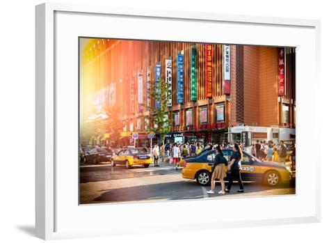 China 10MKm2 Collection - Instants Of Series - Yellow Cabs-Philippe Hugonnard-Framed Art Print