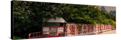 China 10MKm2 Collection - Red Chinese Inscriptions-Philippe Hugonnard-Stretched Canvas Print