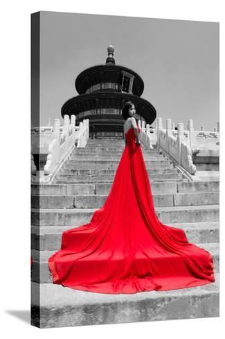 China 10MKm2 Collection - Red Carpet - Temple of Heaven-Philippe Hugonnard-Stretched Canvas Print