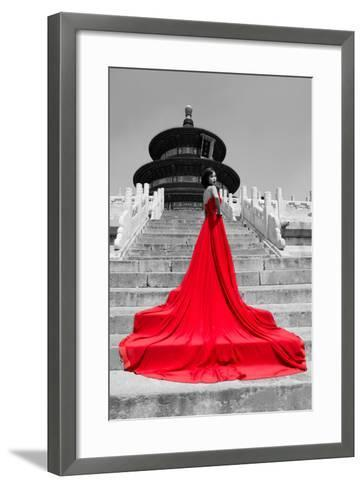 China 10MKm2 Collection - Red Carpet - Temple of Heaven-Philippe Hugonnard-Framed Art Print