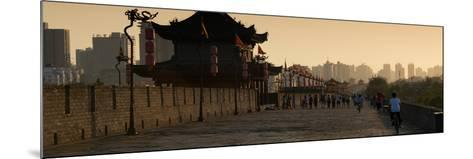 China 10MKm2 Collection - Shadows of the City Walls at sunset - Xi'an City-Philippe Hugonnard-Mounted Photographic Print