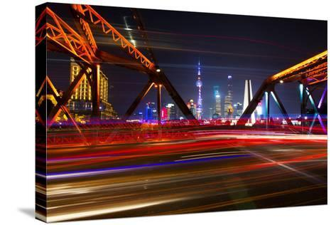 China 10MKm2 Collection - Colorful Garden Bridge - Shanghai-Philippe Hugonnard-Stretched Canvas Print