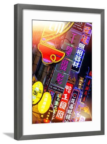 China 10MKm2 Collection - Neon Signs in Nanjing Lu - Shanghai-Philippe Hugonnard-Framed Art Print