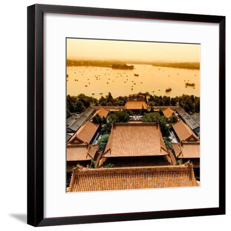 China 10MKm2 Collection - Summer Palace and Lotus Lake-Philippe Hugonnard-Framed Art Print