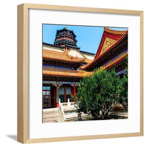 China 10MKm2 Collection - Pavilion of Buddhist - Summer Palace-Philippe Hugonnard-Framed Art Print