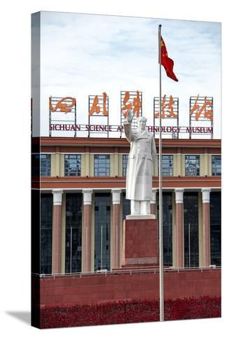 China 10MKm2 Collection - Statue of Mao Zedong in front of the museum-Philippe Hugonnard-Stretched Canvas Print