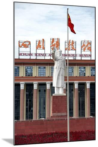 China 10MKm2 Collection - Statue of Mao Zedong in front of the museum-Philippe Hugonnard-Mounted Photographic Print