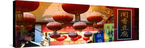China 10MKm2 Collection - Red Lanterns-Philippe Hugonnard-Stretched Canvas Print