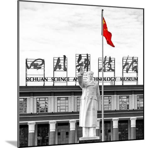 China 10MKm2 Collection - Statue of Mao Zedong-Philippe Hugonnard-Mounted Photographic Print