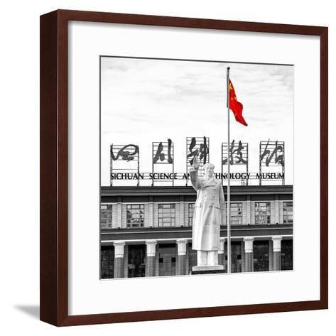 China 10MKm2 Collection - Statue of Mao Zedong-Philippe Hugonnard-Framed Art Print