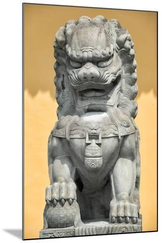 China 10MKm2 Collection - Stone Lion Statue-Philippe Hugonnard-Mounted Photographic Print