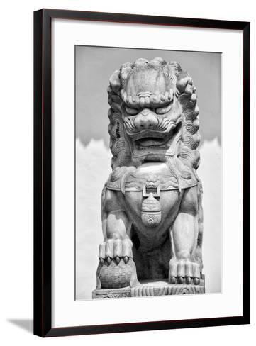China 10MKm2 Collection - Stone Lion Statue-Philippe Hugonnard-Framed Art Print