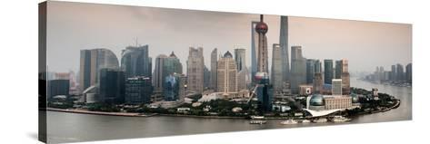 China 10MKm2 Collection - Shanghai Skyline with Oriental Pearl Tower-Philippe Hugonnard-Stretched Canvas Print