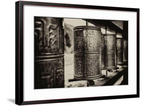 China 10MKm2 Collection - Prayer Wheels-Philippe Hugonnard-Framed Art Print