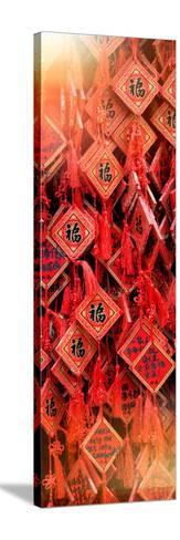 China 10MKm2 Collection - Prayer Buddhist Temple-Philippe Hugonnard-Stretched Canvas Print