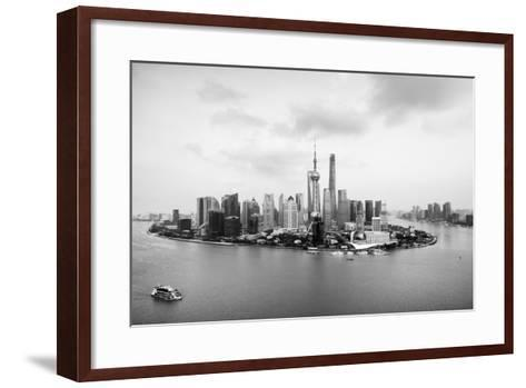 China 10MKm2 Collection - Shanghai Skyline with Oriental Pearl Tower-Philippe Hugonnard-Framed Art Print