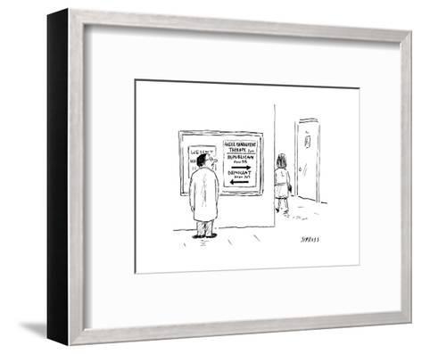 Anger Management - Cartoon-David Sipress-Framed Art Print