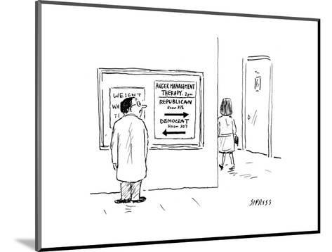 Anger Management - Cartoon-David Sipress-Mounted Premium Giclee Print