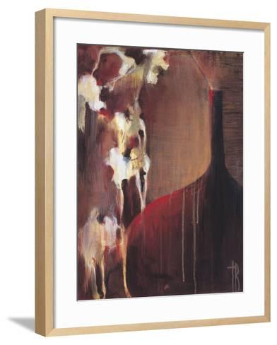 Persimmon Vase II-Terri Burris-Framed Art Print