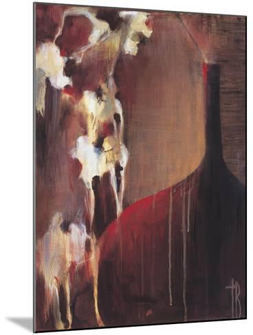 Persimmon Vase II-Terri Burris-Mounted Art Print