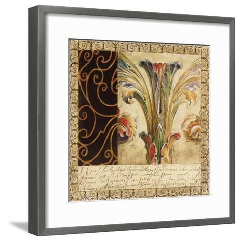 Antique French Manuscript II-Liz Jardine-Framed Art Print