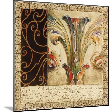 Antique French Manuscript II-Liz Jardine-Mounted Art Print