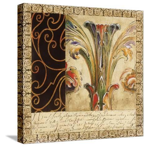Antique French Manuscript II-Liz Jardine-Stretched Canvas Print