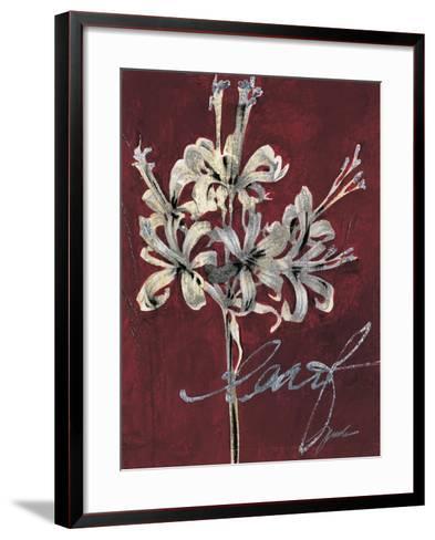 Cabernet Blossoms I-Liz Jardine-Framed Art Print