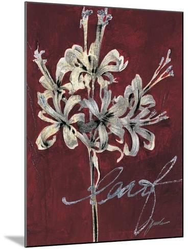 Cabernet Blossoms I-Liz Jardine-Mounted Art Print