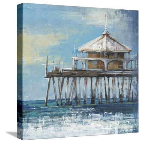 Boardwalk Pier-Liz Jardine-Stretched Canvas Print