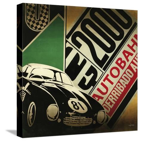 Autobahn-Kc Haxton-Stretched Canvas Print