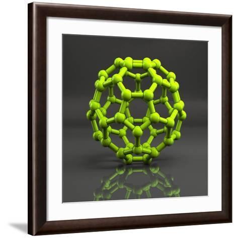 Buckyball Molecule C60, Artwork-Laguna Design-Framed Art Print