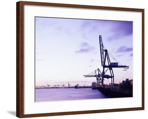 Container Cranes-Carlos Dominguez-Framed Art Print