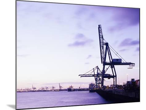 Container Cranes-Carlos Dominguez-Mounted Photographic Print