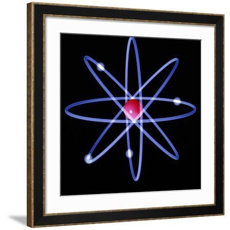 Computer Artwork of a Beryllium Atom-Laguna Design-Framed Art Print