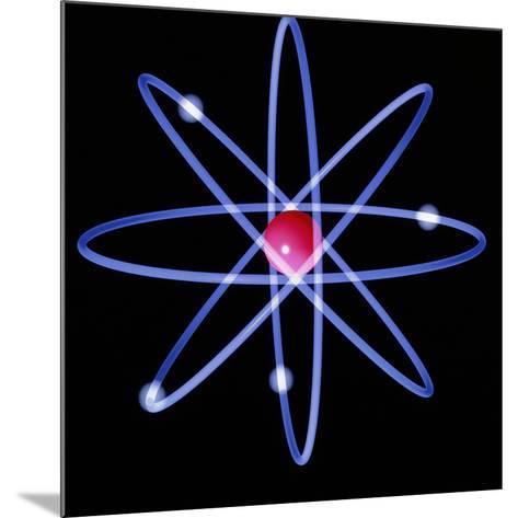 Computer Artwork of a Beryllium Atom-Laguna Design-Mounted Photographic Print