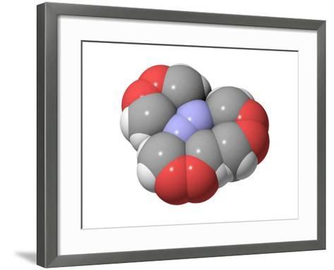 HMTD Explosive, Molecular Model-Laguna Design-Framed Art Print
