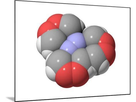 HMTD Explosive, Molecular Model-Laguna Design-Mounted Photographic Print